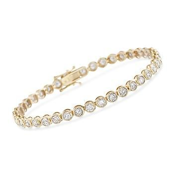 IGI Certified1.18CT Round /& Baguette Designer Diamond Halo Style Bangle In 14K Gold Over