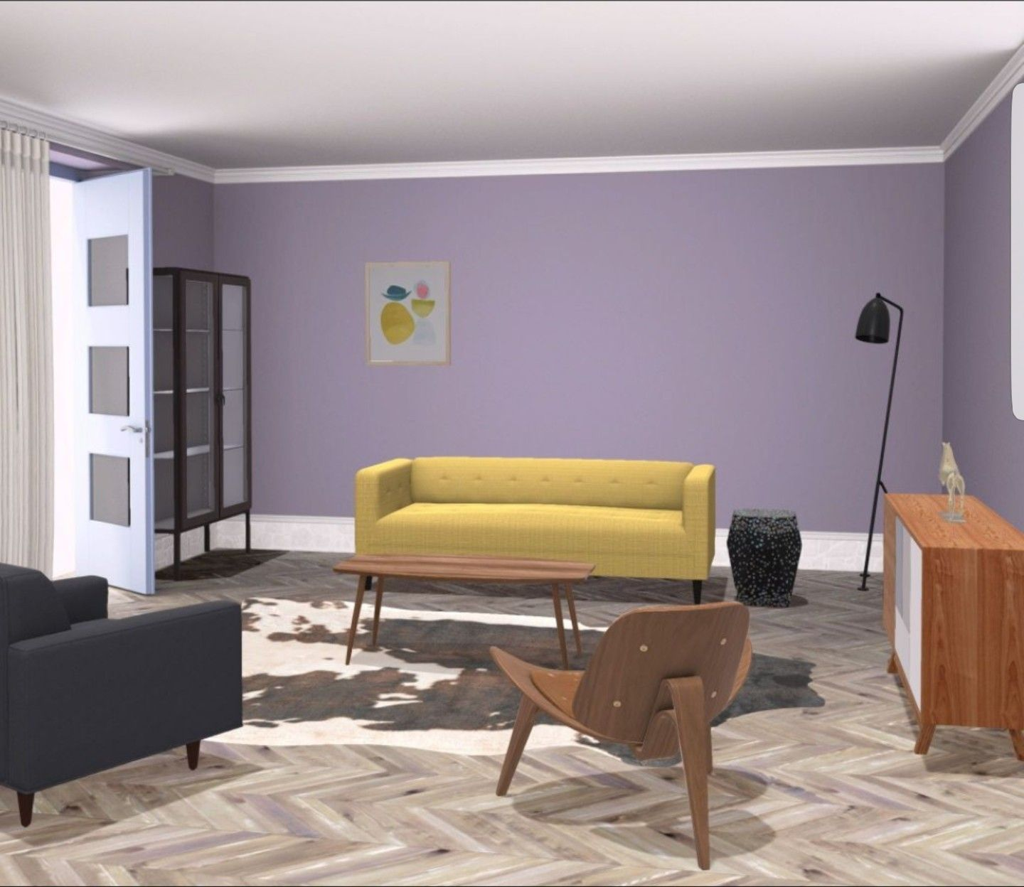 Design My Living Room App Cool My Project Of #contemporary #livingroom With #violetwall Made Via Decorating Inspiration