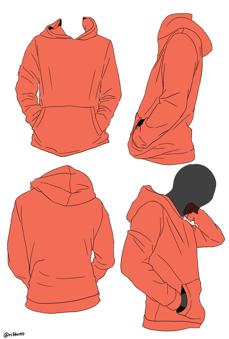 How To Draw Hoodies From Hoods To Zippers Drawing Clothes
