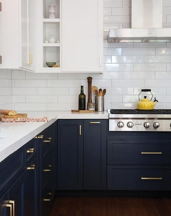 10 Trendy Navy Blue Cabinets You Ll Fall In Love With Kitchen Interior Kitchen Cabinetry Kitchen Design