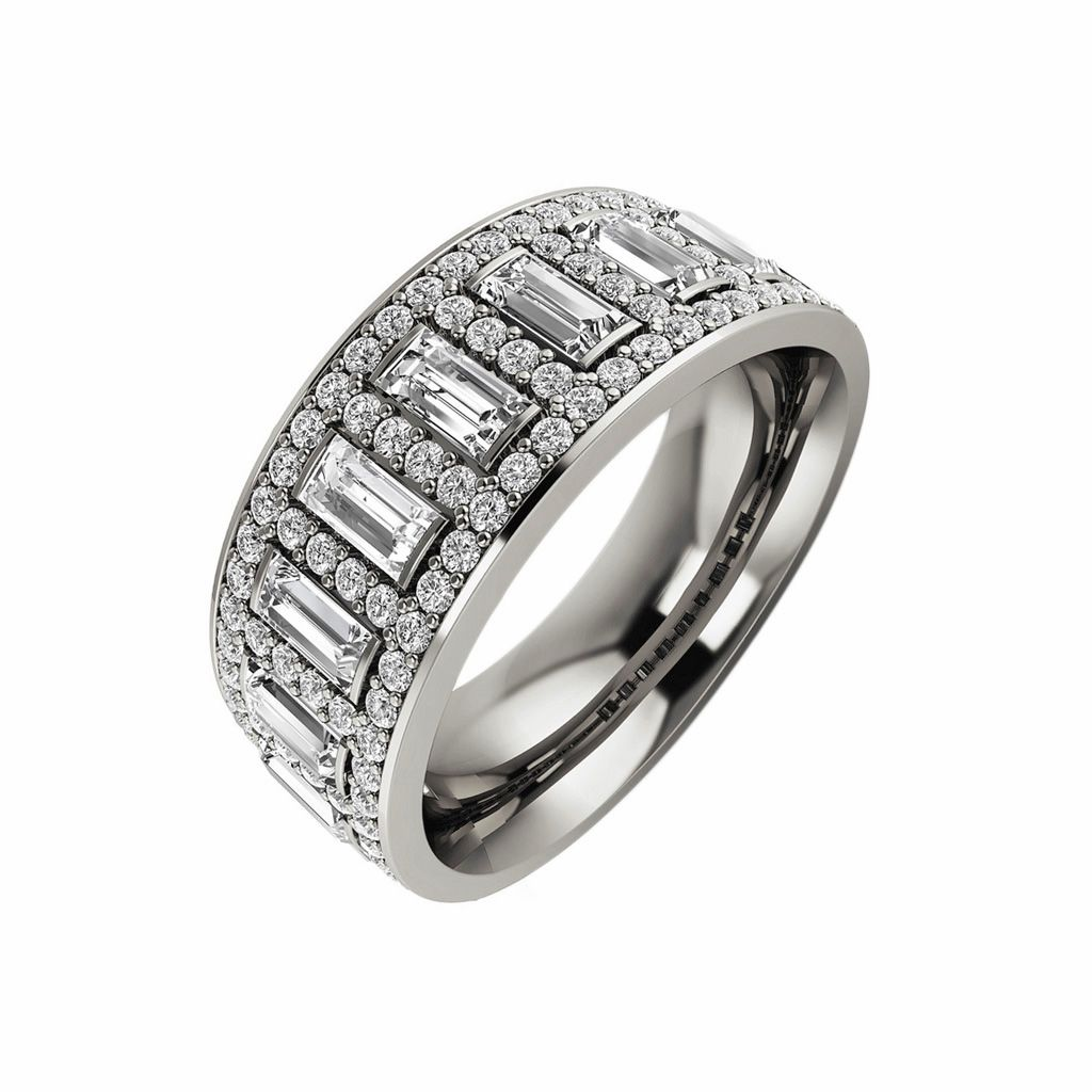 Swirl pattern white gold wedding ring for brides fashion fill - A Luxurious And Contemporary Anniversary Band With A Total Diamond Weight Of Almost Made In White Rose Or Yellow Gold Or Elegant Platinum