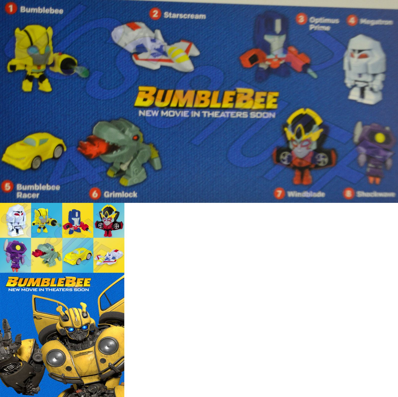 transformers bumblebee the movie 2018 mcdonalds happy meal toys