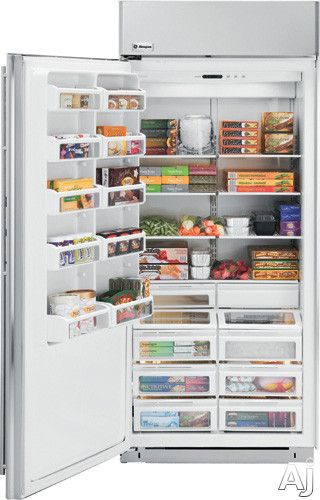 Monogram Zifs360nxlh 36 Built In Upright Freezer With Wire Shelves Door Bins Concealed Ice Drawer Halogen Li Upright Freezer Cantilever Shelf Wire Shelving