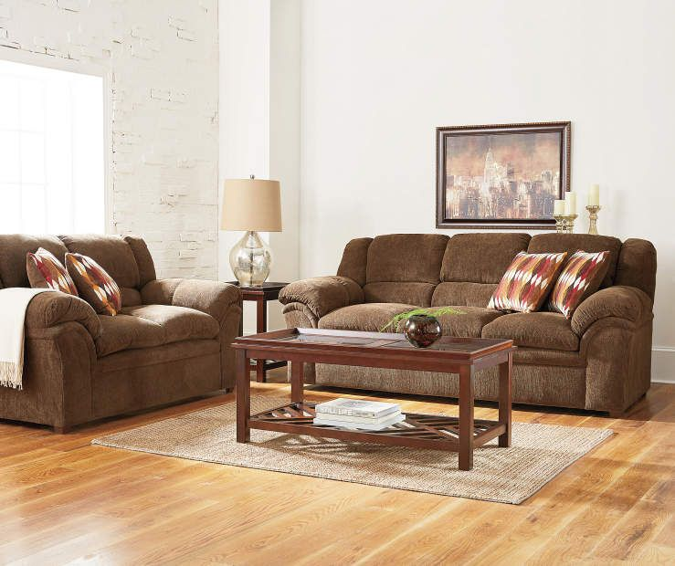 Simmons Verona Chocolate Chenille Living Room Furniture Collection At Big  Lots.
