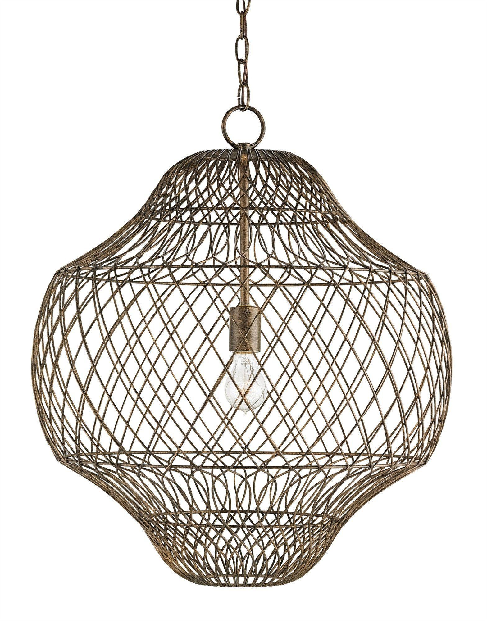 Trellis pendant design by currey u company funky family room