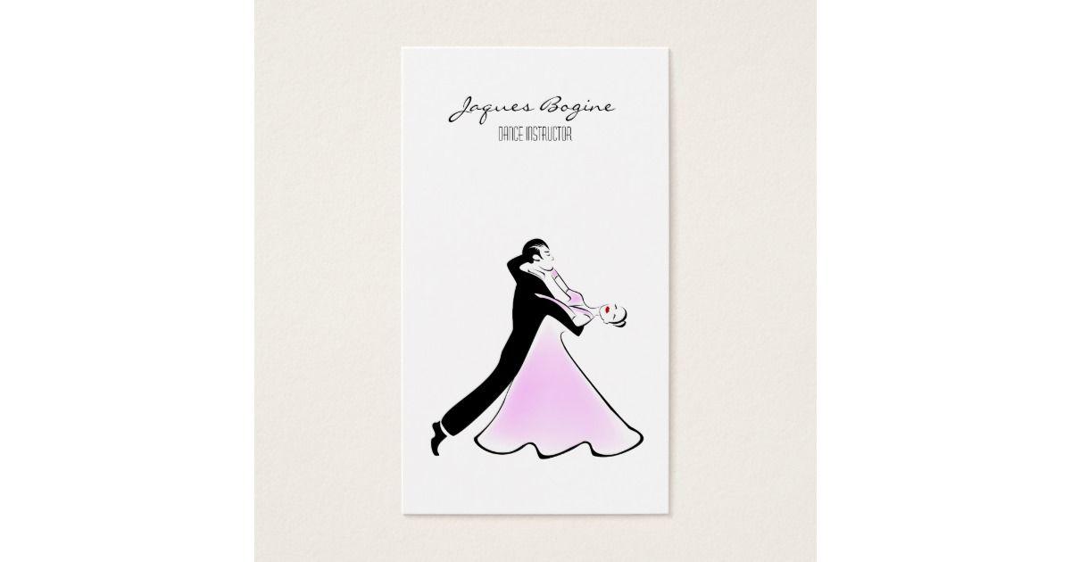 Artistic Dancer Ballroom Dancing Couple Business Card | Dancing couple