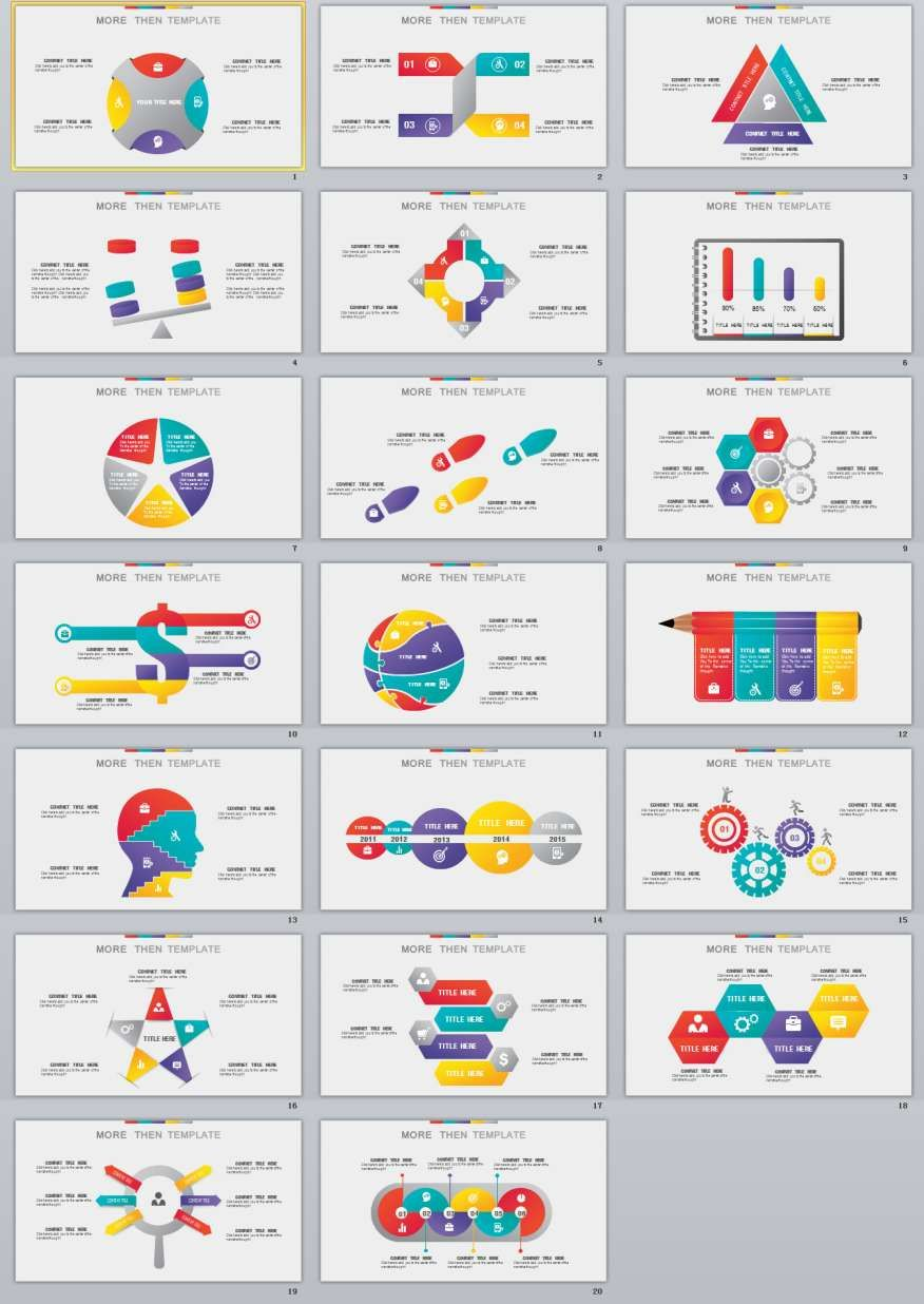 20 infographic design powerpoint templates