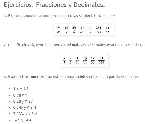 Realiza Ejercicios De Fracciones Y Decimales Y Luego Corrígelos Fracciones Decimales Decimal Fracciones