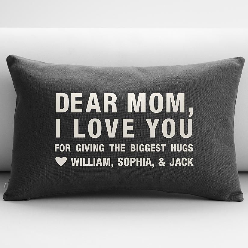 personalized dear mom throw pillow cover | $49.95 | Mother ...