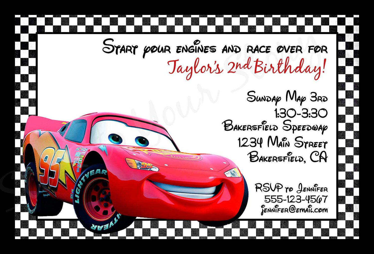 Invitations Cars Disney Printable Invitations Boy Disney Cars