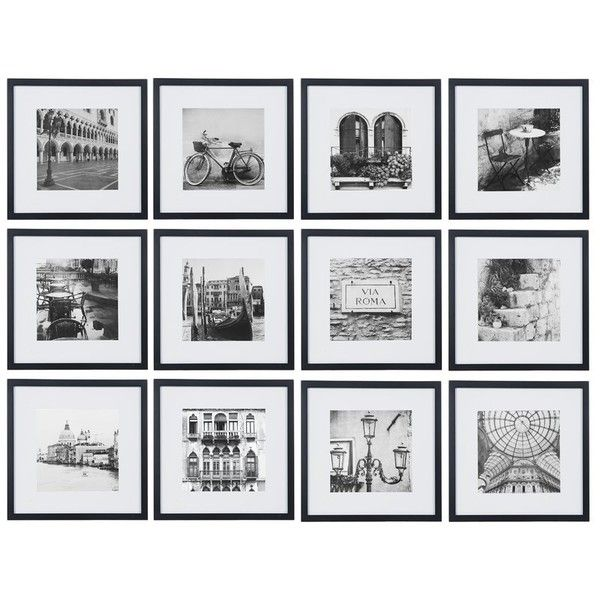 12 Piece Matted Picture Frame Set ❤ liked on Polyvore featuring ...