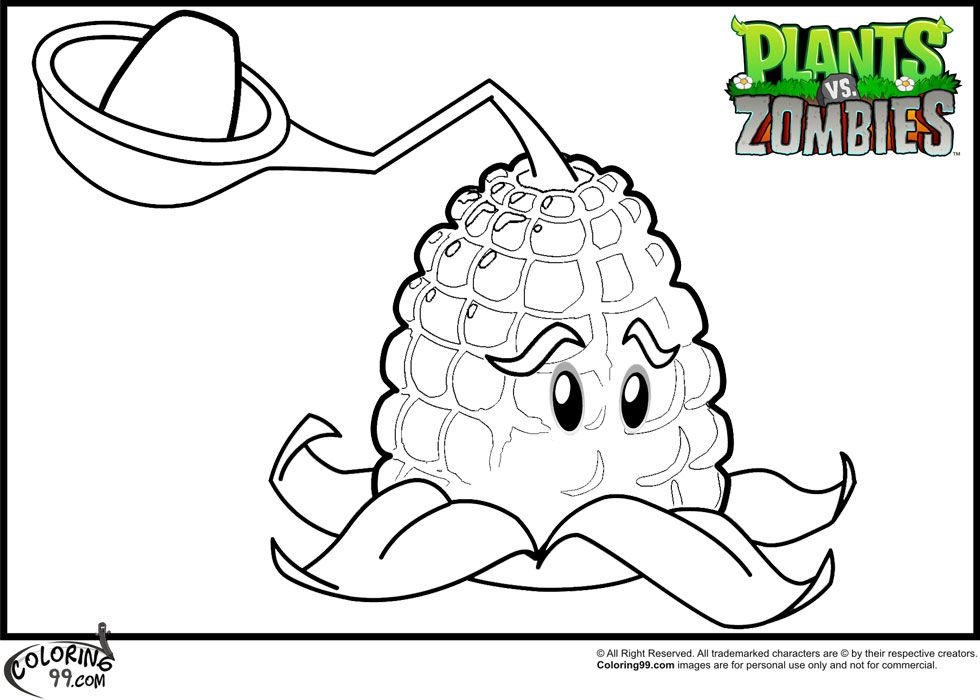 plants-vs-zombies-kernel-pult-coloring-pages.jpg (980×700) | Jonah ...
