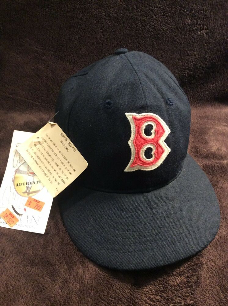 Details About Vintage Boston Red Sox Roman Pro Mlb Fitted Cap Hat