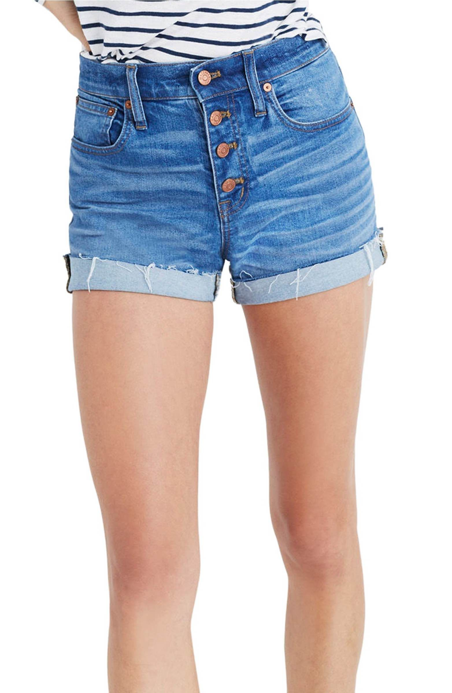 4b2e78cc2 Main Image - Madewell High Rise Denim Boyshorts (Clanton Wash ...