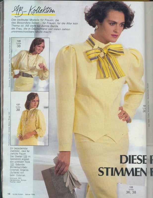 Burda Moden 1986 Pinterest Vintage Beauty And Fashion