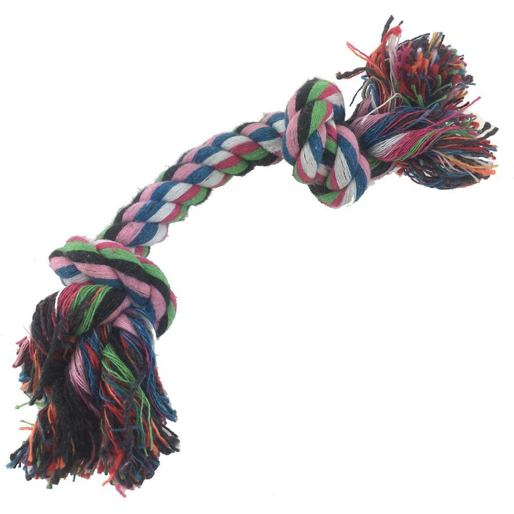 Pets Puppy Dog Rope Toys For Aggressive Chewers Natural Cotton