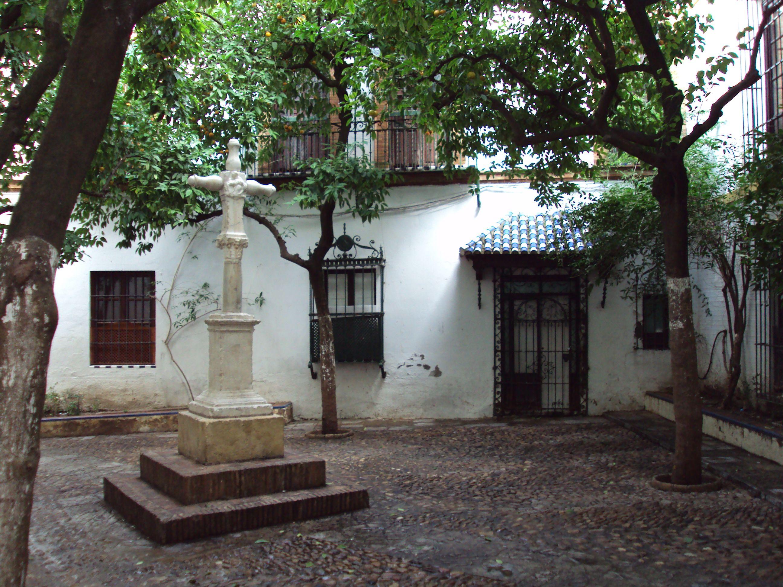 Plazuela De Santa Marta In Seville Spain Sevilla Andalucia