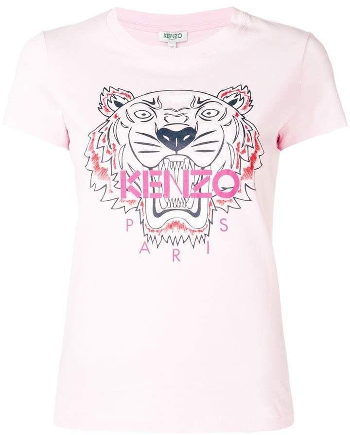 da281127 Kenzo Tiger print T-shirt | Products in 2019 | Tiger print, Tiger t ...