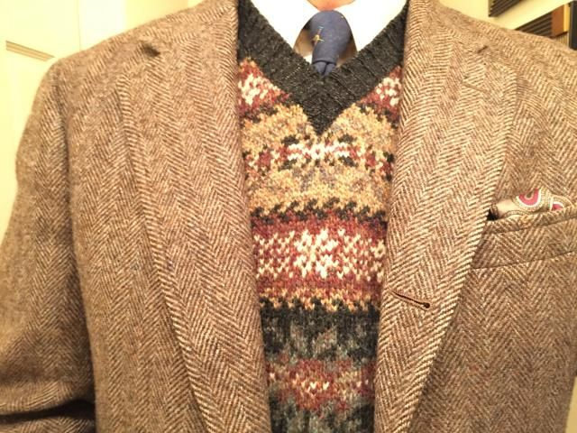 Brooks Brothers herringbone tweed sack and ecru OCBD, L.L. Bean ...