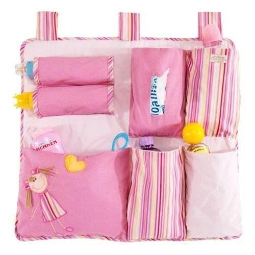 Organizador para cuna de bebe pa ales biberon mu ecas organizador multiusos pinterest - Organizador de cuna ...