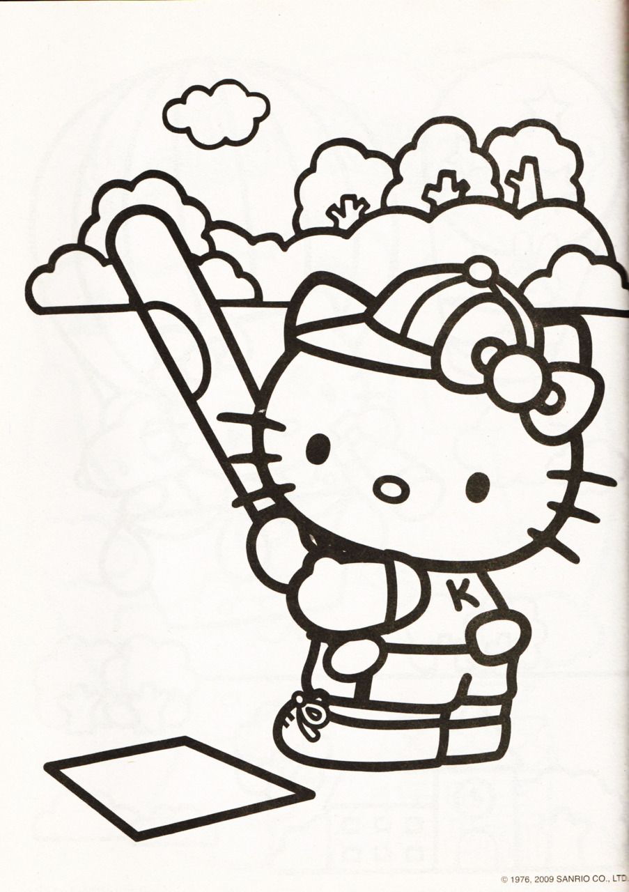 hello kitty color pages printables pinterest hello kitty