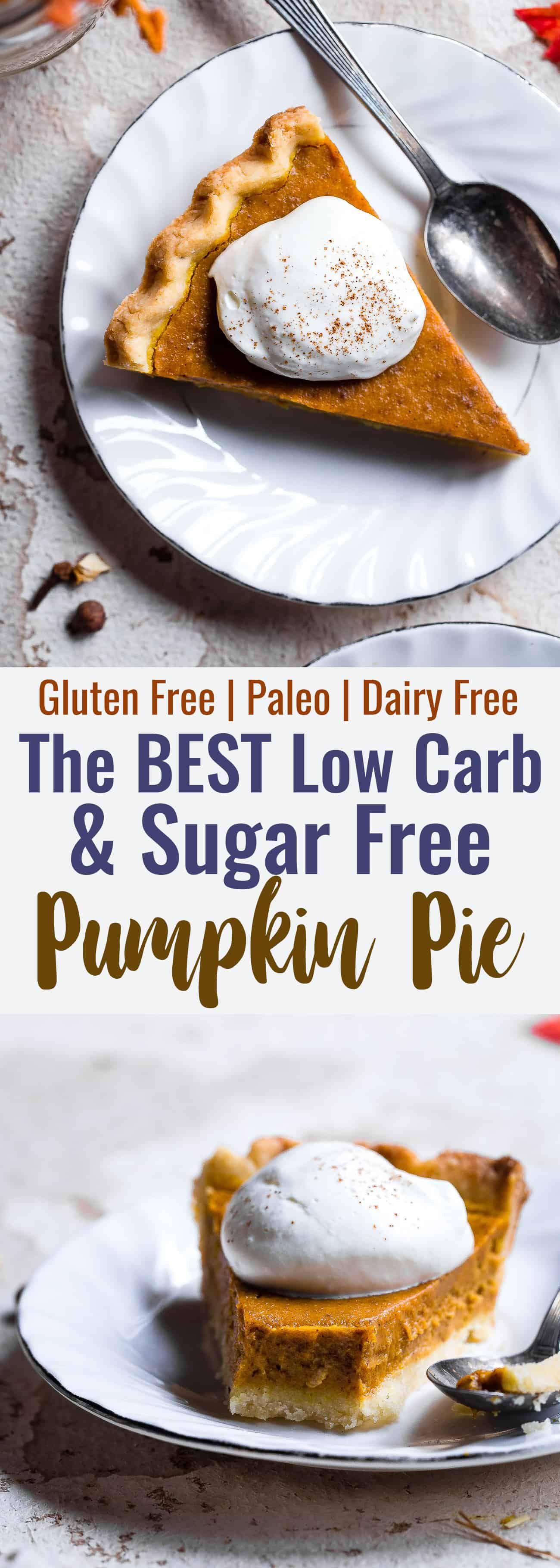 Paleo Low Carb Sugar Free Pumpkin Pie | Food Faith Fitness