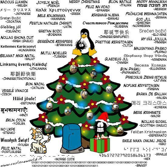 different ways to say merry christmas in different languages