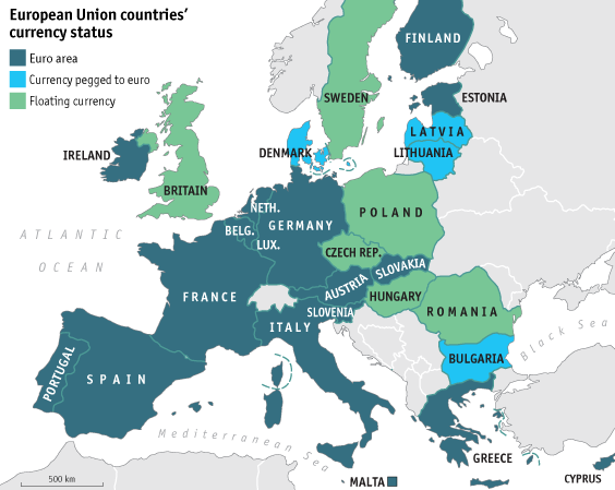 Who Uses The Euro And Who Is A Member Of The European Union