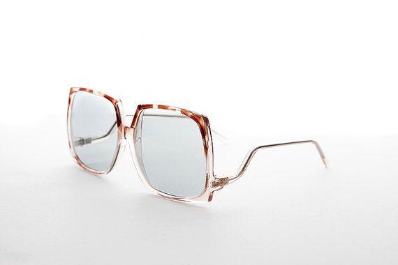251de88ffe Rare Square Vintage Boho Sunglasses Corning PhotoSun Lens NOS-Twiggy ...