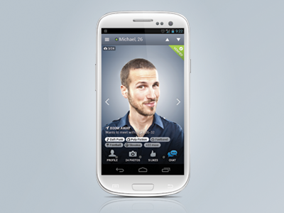 Bado Mobili ~ New badoo app for android is out android ui user