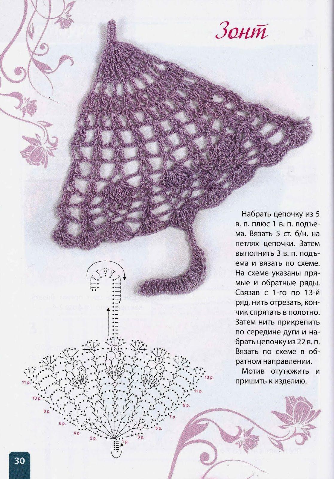 SOLO PUNTOS: Paraguitas | crochet .-. gráficos - diagramas ...