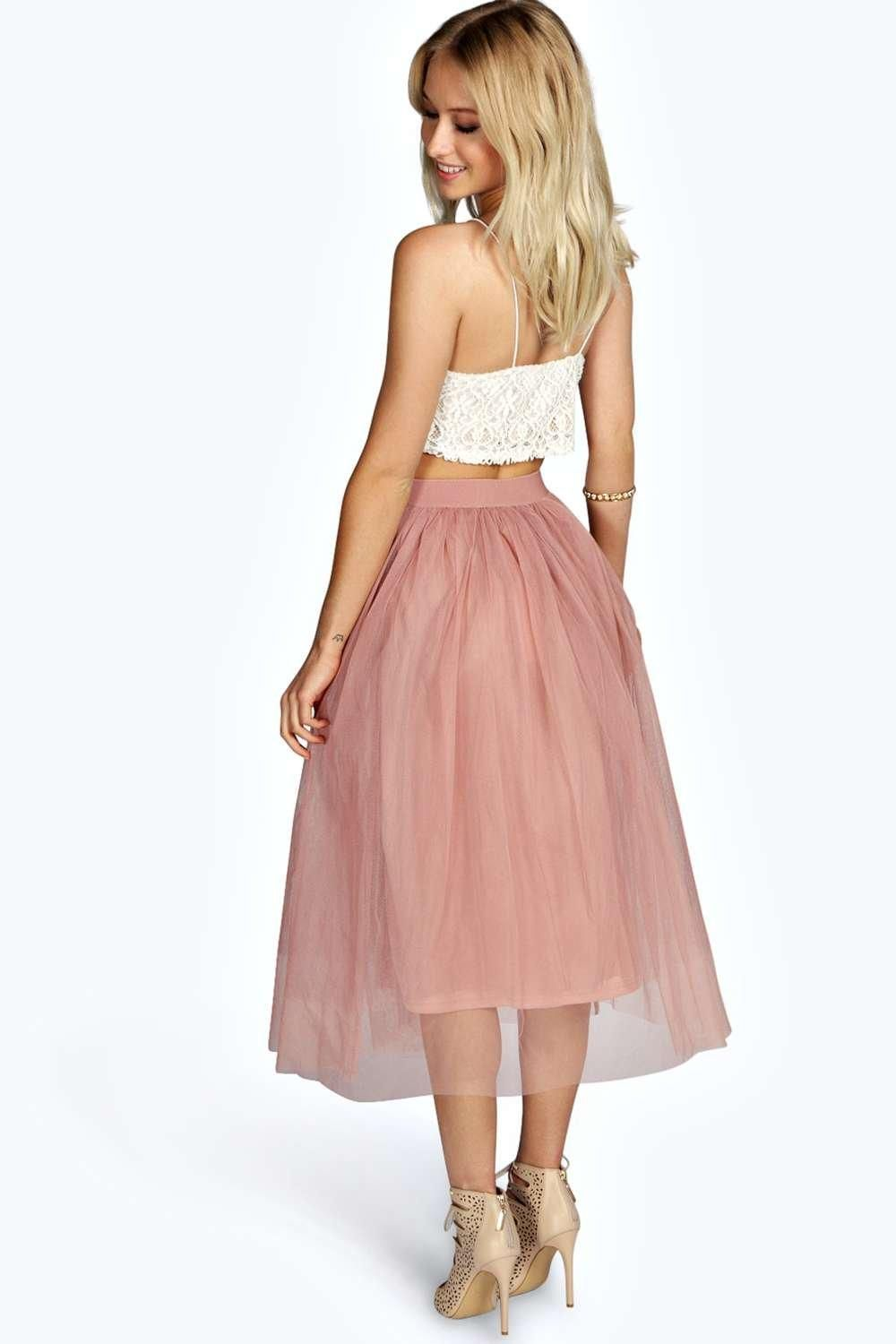 Boutique Tallulah Tulle Mesh Full Circle Midi Skirt | Wardrobe ...