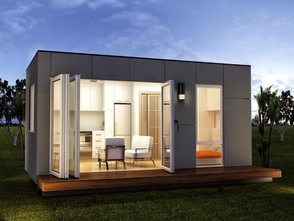 Granny Flats Studio Home Spacious One Bed Prefab Container Home Rennes Modern Tiny House Tiny House Design Modular Homes