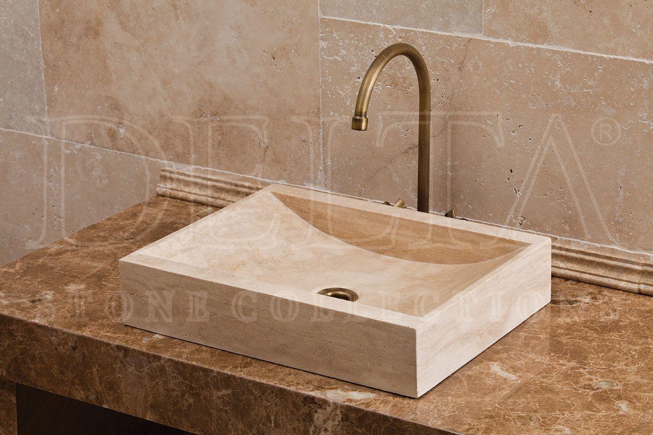 Bathroom Collection Sinks | Bosnia Classic Travertine Sink (DLT 635)