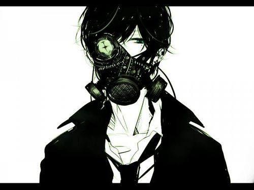 Masked Boy Anime Gas Mask Anime Dark Anime