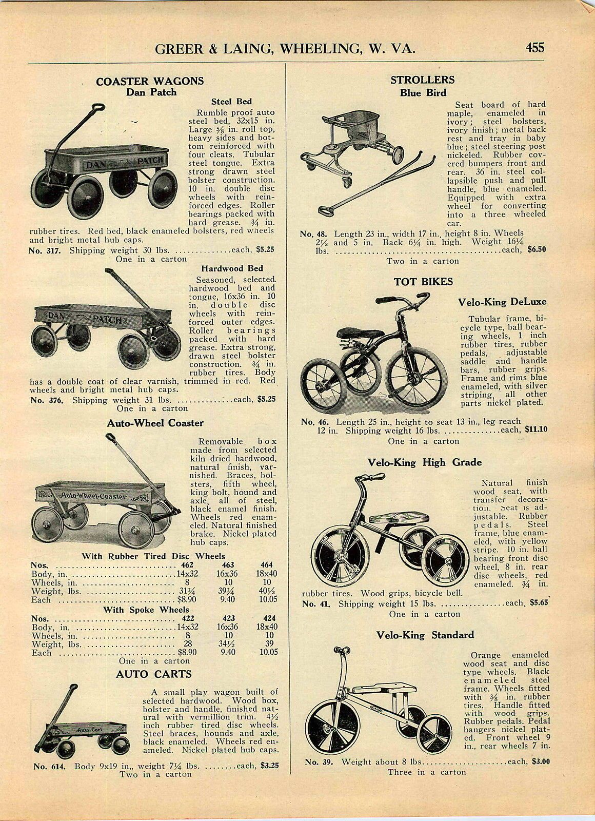 1928 29 AD Dan Patch Coaster Wagon Hardwood Steel Bed Wood Wooden ...