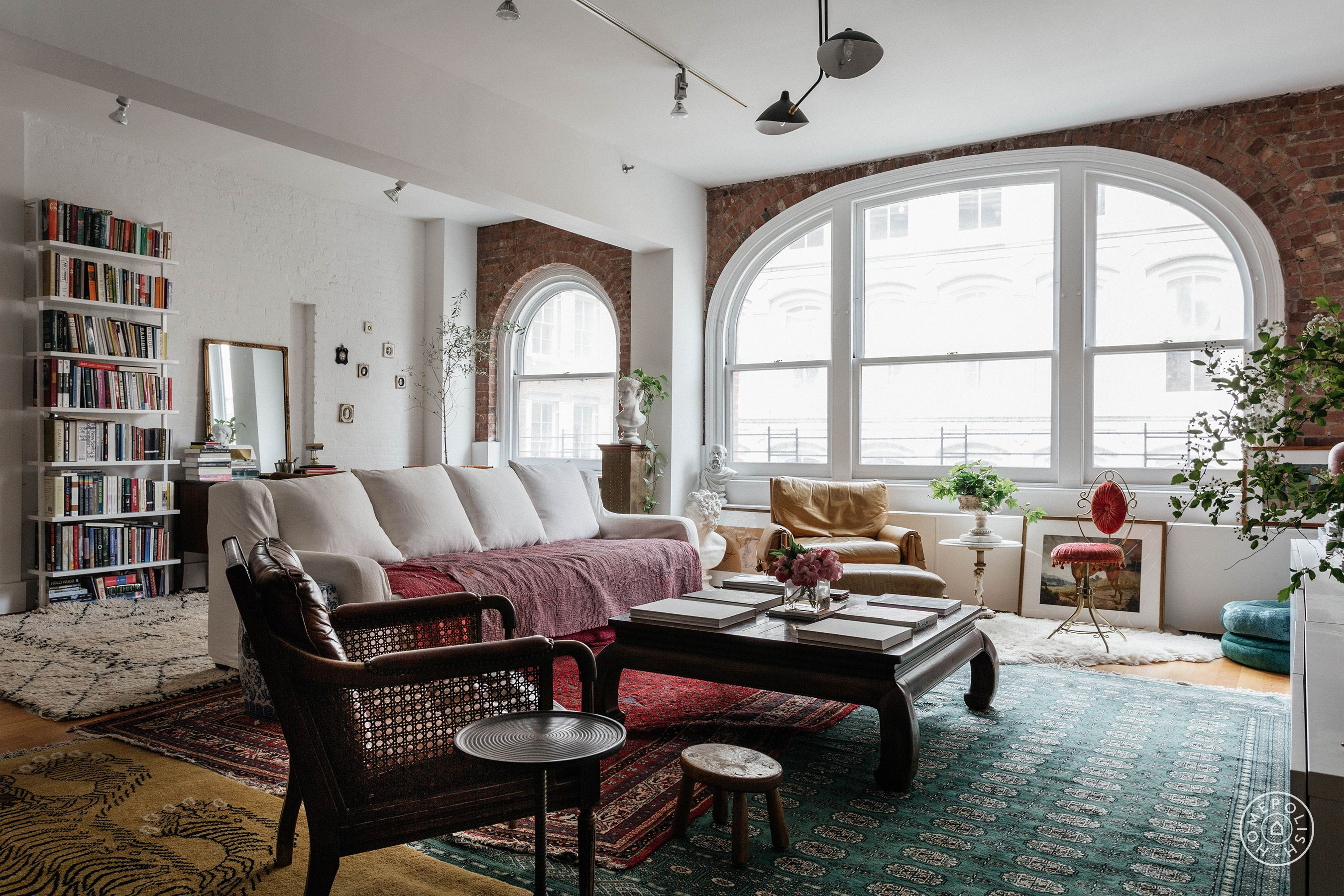 This expert mix of styles speaks to the designers eclectic eye