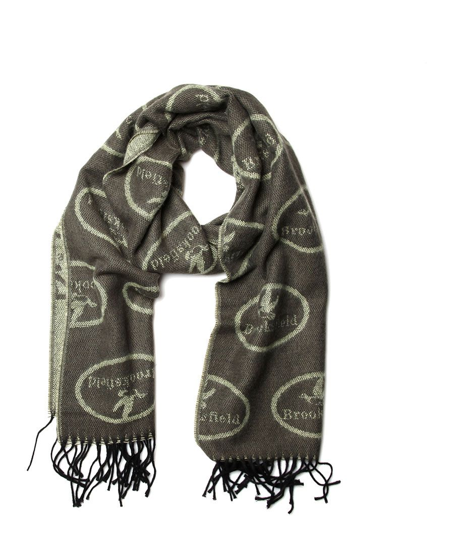 Scarf soft and light wool-like fabric 37   180 cm Dry clean only logo  Brooksfield on outer side 8d469554308