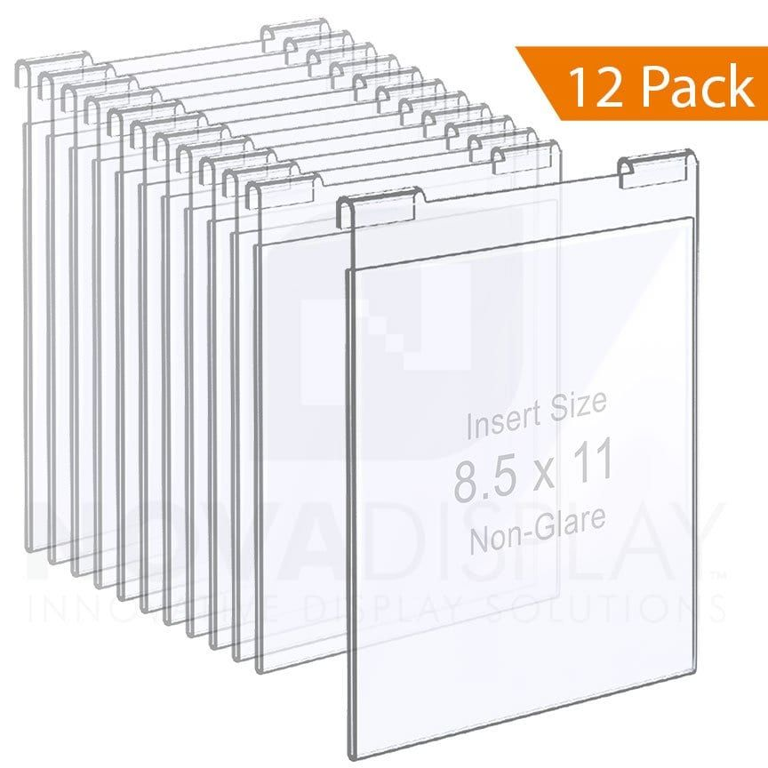 Non Glare Acrylic Hook On Info Poster Holder Letter Size 12 Pcs Bundle In 2020 Clear Acrylic Support Wall Screen Design