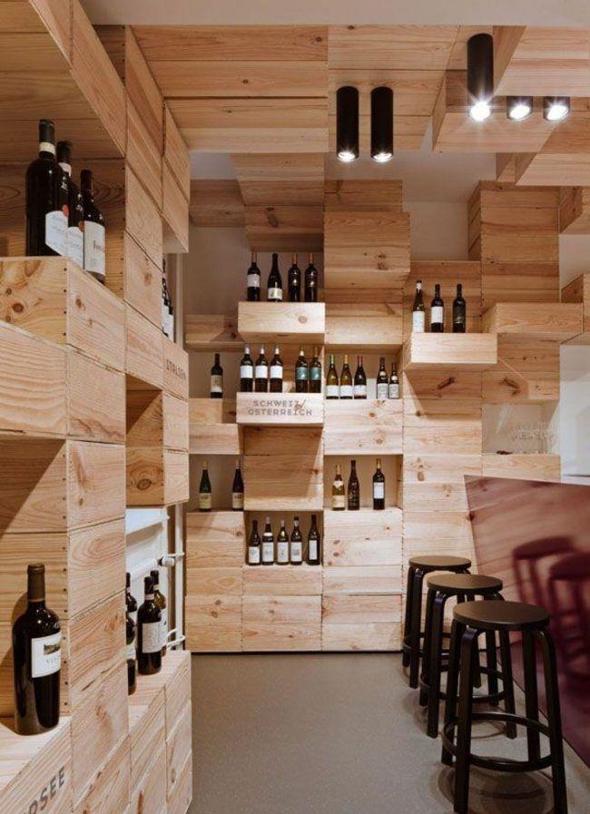 Weinkeller Holz Moderne Einrichtung Innendesign