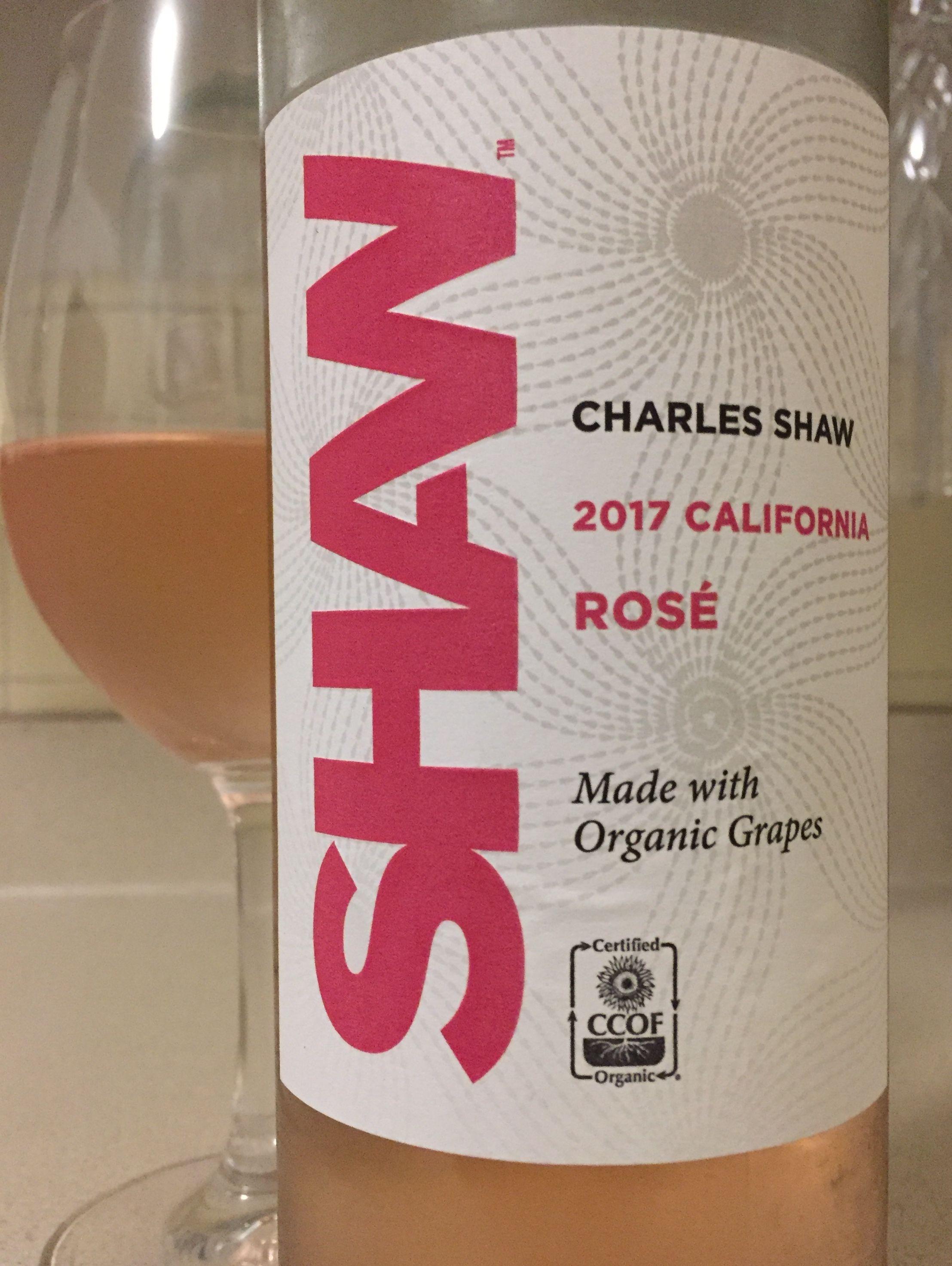 Charles Shaw 2017 California Rose Made With Organic Grapes Organic Grapes Grapes Bottle