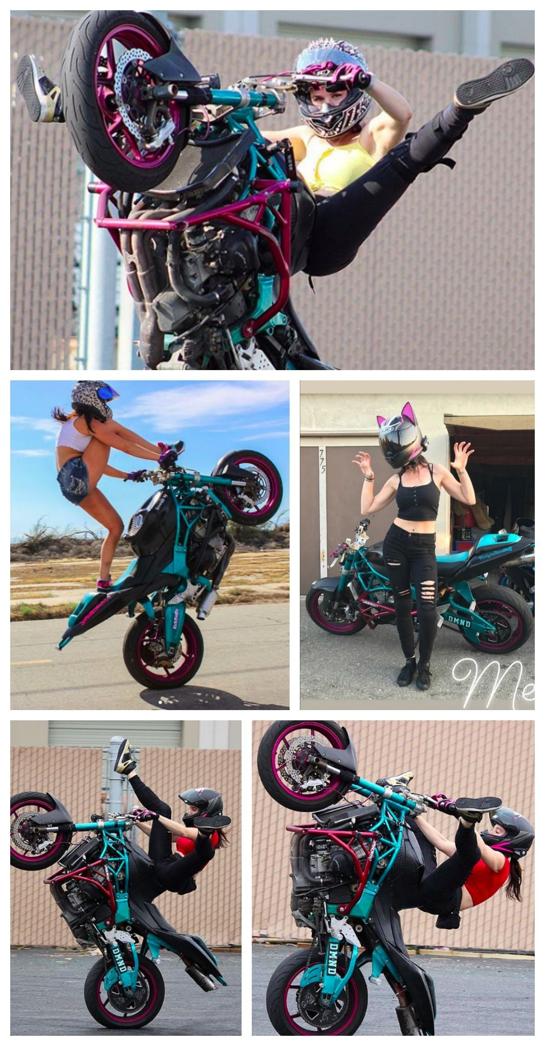Cat Ear Motorcycle Helmet by HJC + HelmetUpgrades Rider
