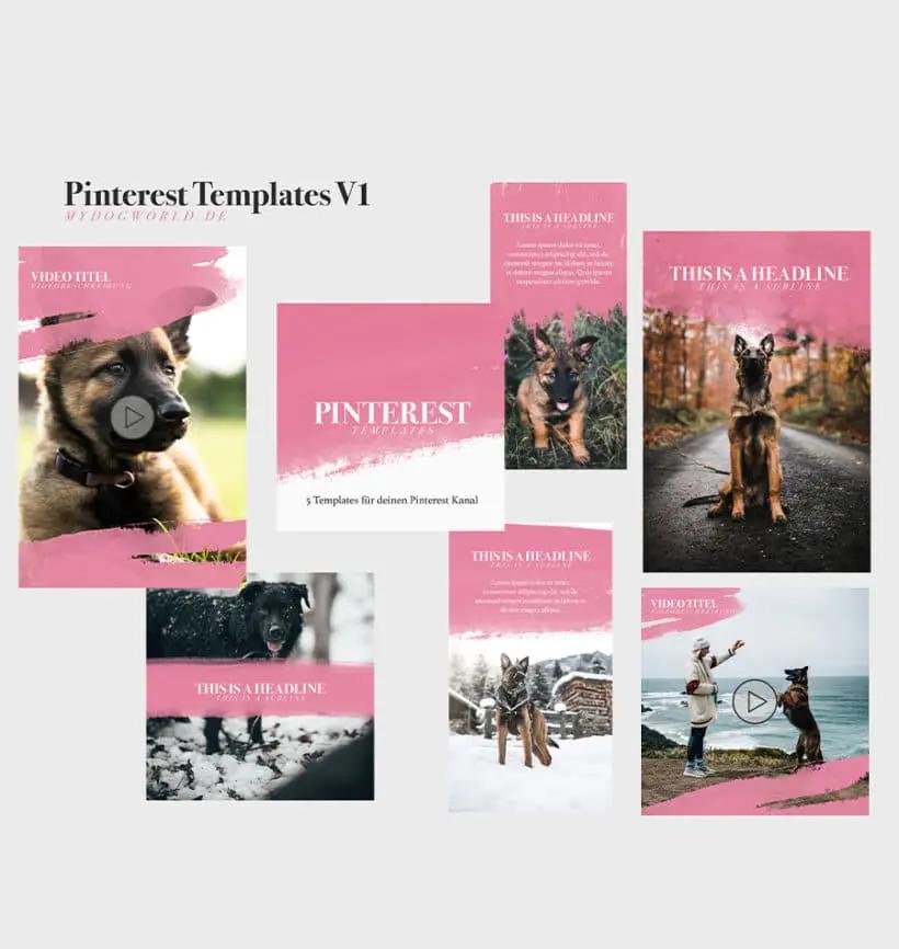 Pinterest Vorlagen Templates kostenlos (With images