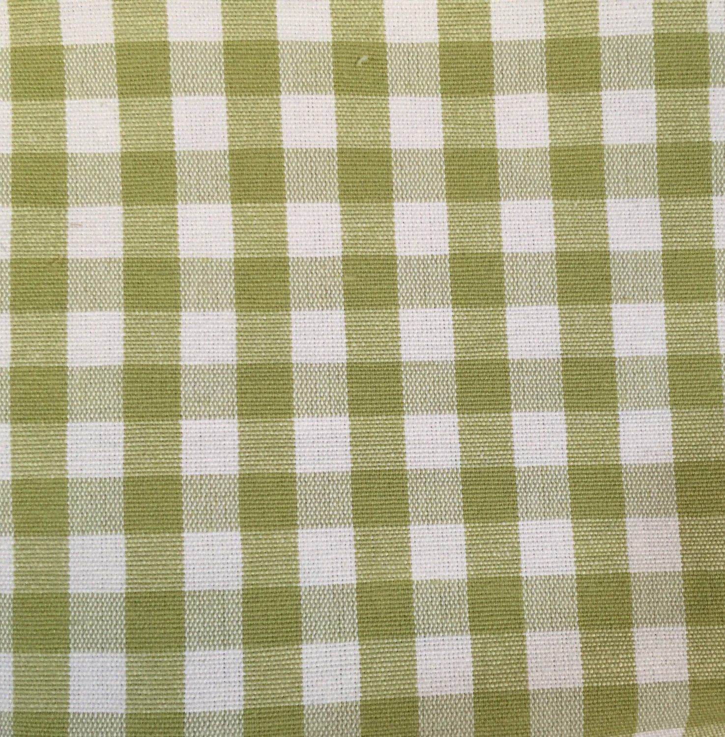 Green White Small Check Upholstery Fabric By The Yard In 2018