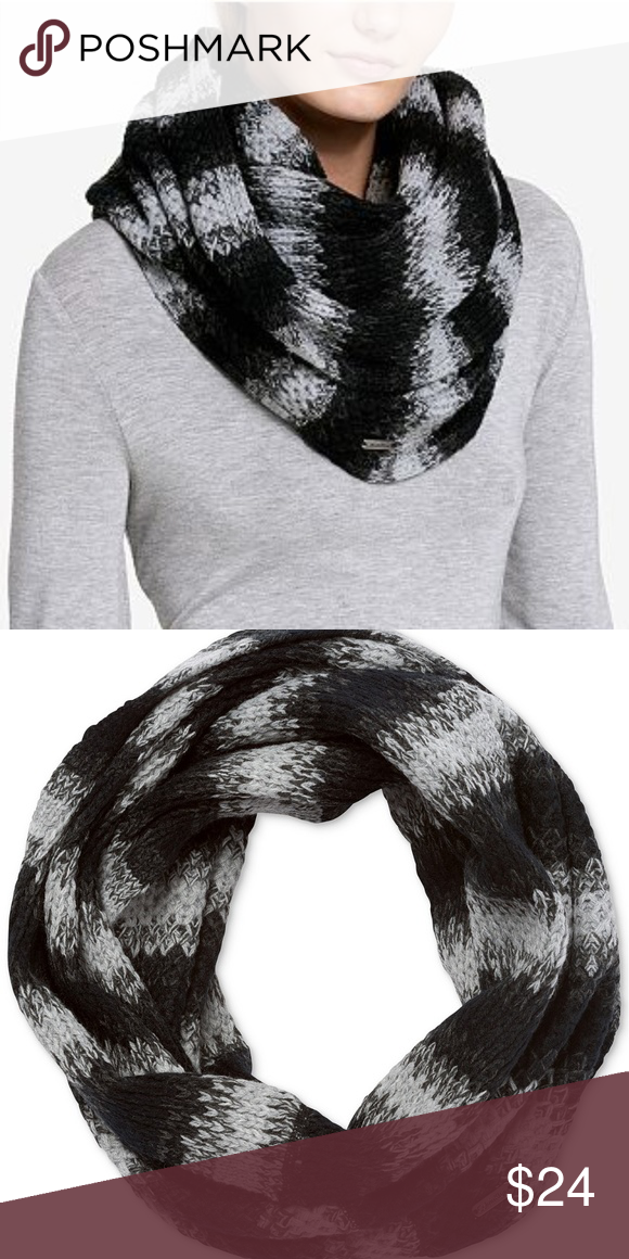 CALVIN KLEIN OMBRE INFINITY SCARF Black Gray You will receive the exact  item as pictured, e0d8eddd02b