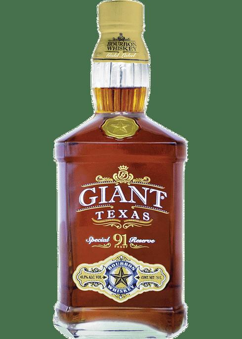 Giant Tx Bourbon 91 Proof Gold Cigars And Whiskey Bourbon Liquor Bottles