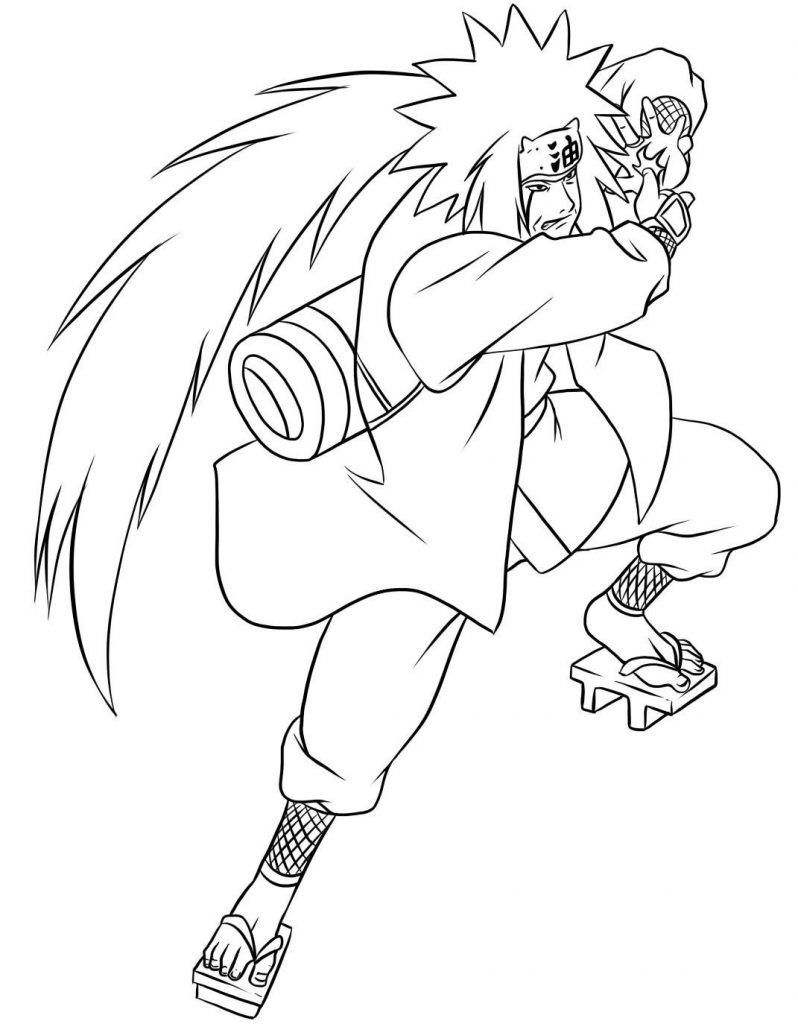 free printable naruto coloring pages