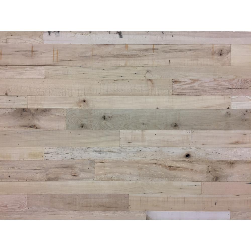24 Sq Ft 5 1 2 In Wide Heirloom Face Reclaimed Barn Wood Long Plank Wall Paneling Kit Vwfwallplnk Hr5 The Home Depot Plank Walls Vintage Wood Floor Reclaimed Barn Wood