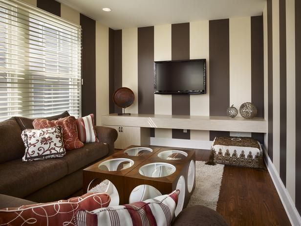 Brown Living Room Wallpaper Ideas House Architecture Design