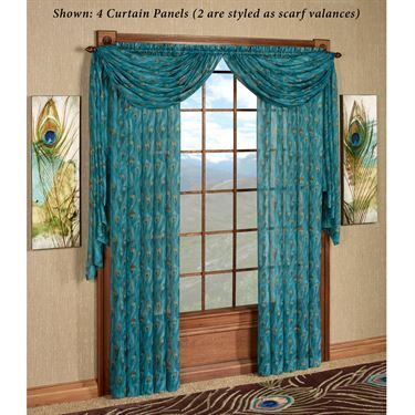 King Peacock Sheer Curtain Panels Sheer Curtain Panels Sheer Curtains And Peacocks